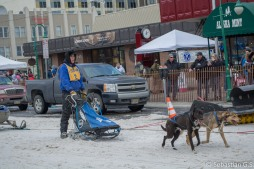 A bustling day two at Fur Rendezvous in downtown Anchorage as the dog sled race attracts a large crowd, food trucks, fur traders and carnival rides. February 27, 2016 (Images: Sebastian Garrett-Singh)
